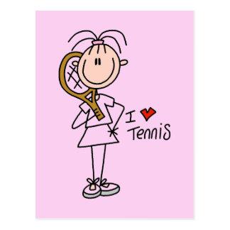 Camisetas y regalos del tenis del amor del chica I Postal