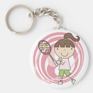 Camisetas y regalos del tenis del chica de los dep llavero personalizado
