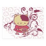 Camisetas y regalos del tenis del gatito tarjetas postales