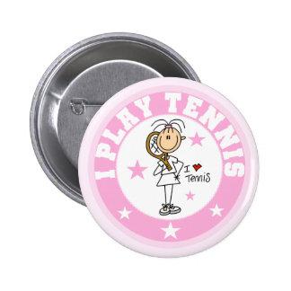 Camisetas y regalos del tenis del juego del chica  pin redondo de 2 pulgadas