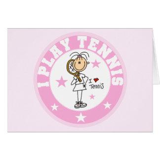 Camisetas y regalos del tenis del juego del chica  tarjetón