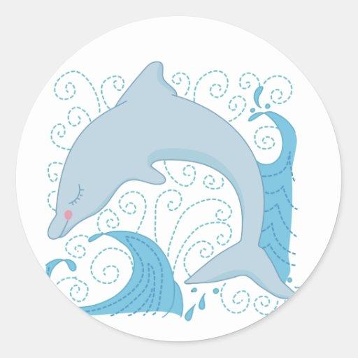 Camisetas y regalos del tirón del delfín pegatinas