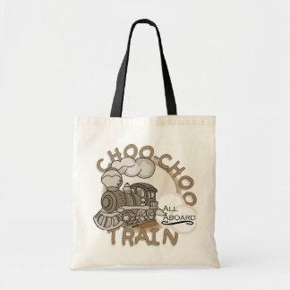 Camisetas y regalos del tren de Choo Choo Bolsas Lienzo