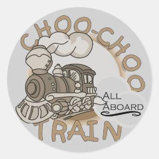 Camisetas y regalos del tren de Choo-Choo Pegatinas Redondas