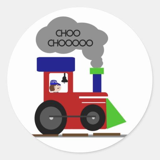 Camisetas y regalos del tren de Choo Choo Pegatina Redonda