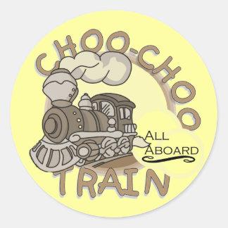 Camisetas y regalos del tren de Choo Choo Pegatinas Redondas