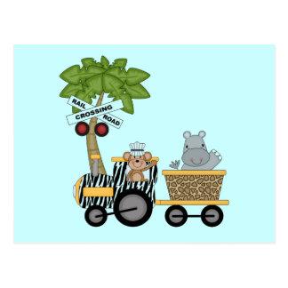 Camisetas y regalos del tren del mono y del postales