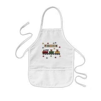 Camisetas y regalos del tren del oso de peluche delantal