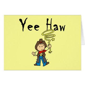 Camisetas y regalos del vaquero del Haw de Yee Tarjetón