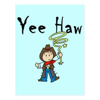 Camisetas y regalos del vaquero del Haw de Yee Tarjeta Postal