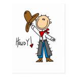 Camisetas y regalos del vaquero Howdy Tarjetas Postales
