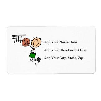 Camisetas y regalos del verde del tiro en etiquetas de envío