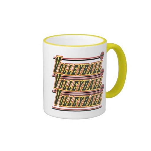 Camisetas y regalos del voleibol taza de café
