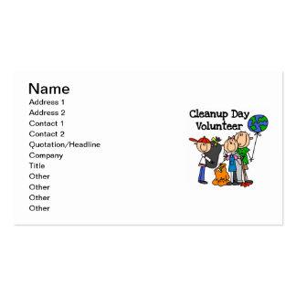 Camisetas y regalos del voluntario del día de la tarjetas de visita