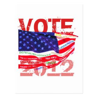 Camisetas y regalos del voto 2012 tarjeta postal