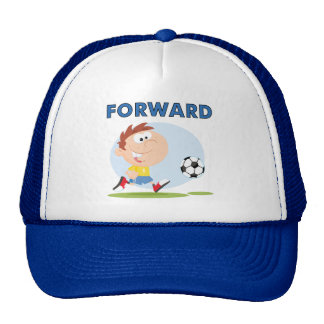 Camisetas y regalos delanteros del fútbol gorro