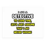 Camisetas y regalos detectives divertidos tarjetas postales
