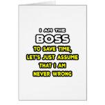 Camisetas y regalos divertidos de Boss Tarjeta De Felicitación