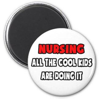 Camisetas y regalos divertidos de la enfermera imán redondo 5 cm