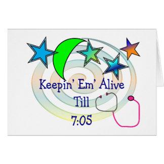 Camisetas y regalos divertidos de la enfermera tarjeta de felicitación