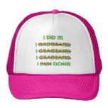 Camisetas y regalos divertidos de la graduación gorros bordados