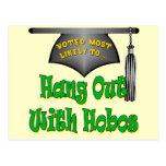 Camisetas y regalos divertidos de la graduación tarjetas postales