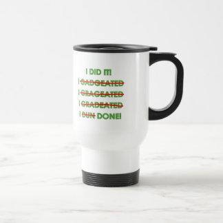 Camisetas y regalos divertidos de la graduación taza de viaje de acero inoxidable