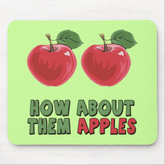 Camisetas y regalos divertidos de las manzanas par mousepad