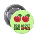 Camisetas y regalos divertidos de las manzanas par pin