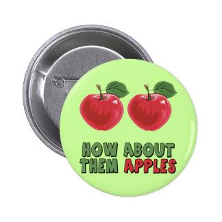 Camisetas y regalos divertidos de las manzanas par pin redondo de 2 pulgadas