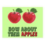 Camisetas y regalos divertidos de las manzanas par postales