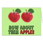 Camisetas y regalos divertidos de las manzanas tarjeta de felicitación