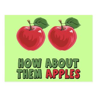 Camisetas y regalos divertidos de las manzanas tarjetas postales