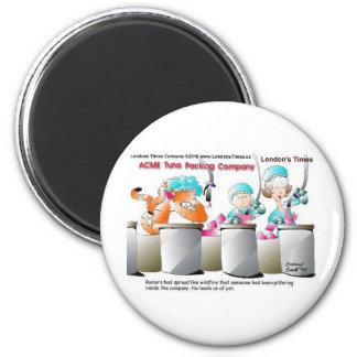 Camisetas y regalos divertidos de las tazas de las imán redondo 5 cm