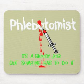 Camisetas y regalos divertidos de Phlebotomist Alfombrillas De Ratones