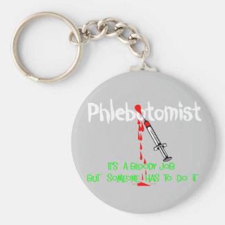 Camisetas y regalos divertidos de Phlebotomist Llavero Personalizado