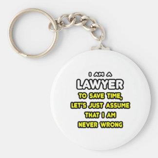 Camisetas y regalos divertidos del abogado llavero personalizado
