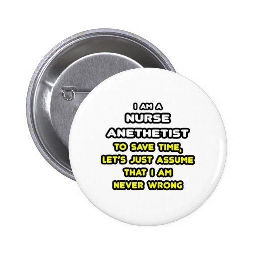 Camisetas y regalos divertidos del Anesthetist de  Pins
