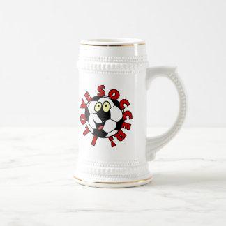 Camisetas y regalos divertidos del balón de fútbol taza de café