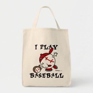 Camisetas y regalos divertidos del béisbol del jue bolsas