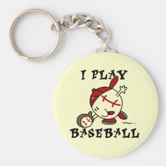 Camisetas y regalos divertidos del béisbol del jue llavero personalizado