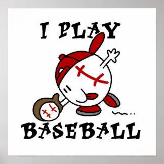 Camisetas y regalos divertidos del béisbol del jue posters