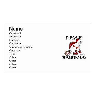 Camisetas y regalos divertidos del béisbol del jue tarjeta de negocio