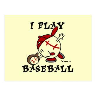 Camisetas y regalos divertidos del béisbol del jue tarjeta postal