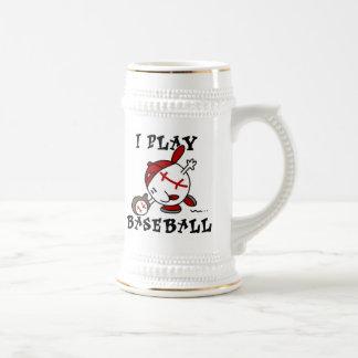 Camisetas y regalos divertidos del béisbol del jue jarra de cerveza