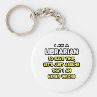 Camisetas y regalos divertidos del bibliotecario llavero redondo tipo pin