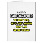 Camisetas y regalos divertidos del cartógrafo tarjeta