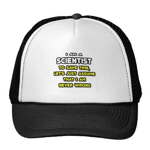 Camisetas y regalos divertidos del científico gorro de camionero