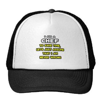 Camisetas y regalos divertidos del cocinero gorro