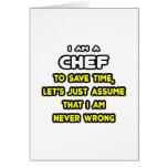 Camisetas y regalos divertidos del cocinero tarjetón